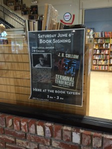 June 6th Book Signing Poster at The Book Tavern at 936 Broad Street in Augusta, Georgia